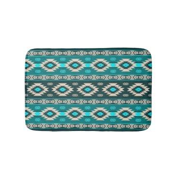 Southwestern navajo ethnic tribal pattern. bathroom mat