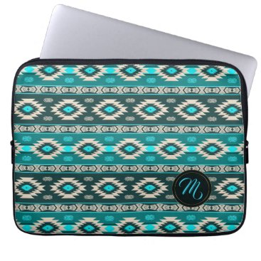 Aztec Themed Southwestern navajo ethnic tribal pattern. computer sleeve