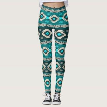 Aztec Themed Southwestern navajo ethnic tribal pattern. leggings