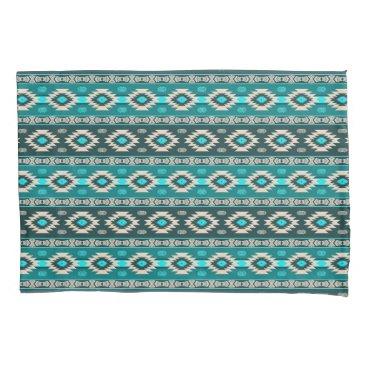 Aztec Themed Southwestern navajo ethnic tribal pattern. pillowcase