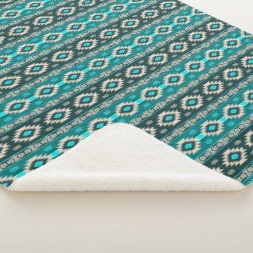 Aztec Themed Southwestern navajo ethnic tribal pattern. sherpa blanket