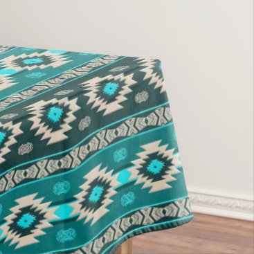 Aztec Themed Southwestern navajo ethnic tribal pattern. tablecloth