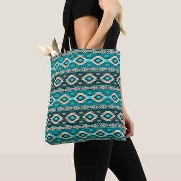 Aztec Themed Southwestern navajo ethnic tribal pattern. tote bag