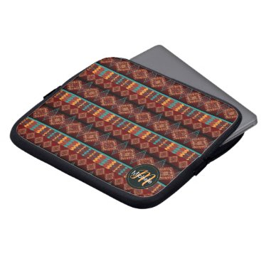 Aztec Themed Southwestern navajo tribal pattern laptop sleeve