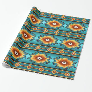 southwestern navajo tribal pattern. wrapping paper
