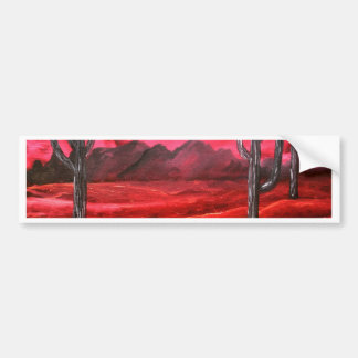 southwestern oil landscape painting bumper sticker