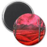 southwestern oil landscape painting fridge magnets