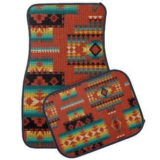 Southwestern pattern car mat set