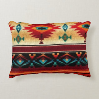 Southwestern Pattern Fun Accent Throw Pillow at Zazzle