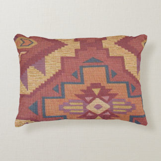 Southwestern pattern fun accent throw pillow