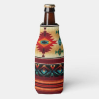 Southwestern pattern fun bottle cooler