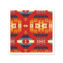 Southwestern pattern fun paper napkins