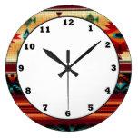 Southwestern pattern fun wall clock