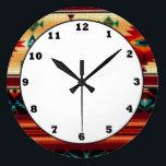 "Southwestern pattern fun wall clock<br><div class=""desc"">design by darq illusions</div>"