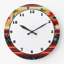 Southwestern pattern fun wall clock