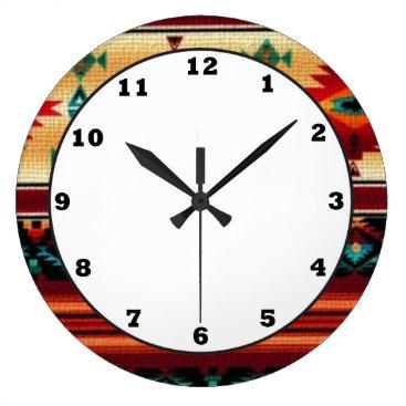 doodlesgifts Southwestern pattern fun wall clock