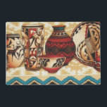 """Southwestern pattern laminated place mat<br><div class=""""desc"""">design by darq illusions</div>"""
