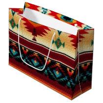 Southwestern pattern large gift bag