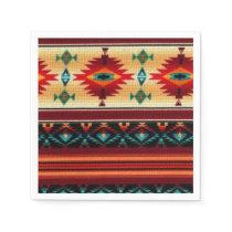 Southwestern pattern party paper napkins