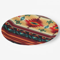 Southwestern pattern party paper plates