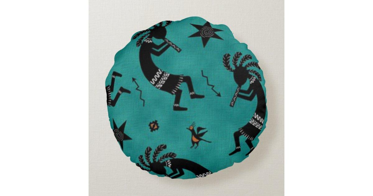 Southwestern Pattern Round Throw Pillow Zazzle