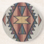 "Southwestern Pattern Sandstone Drink Coaster<br><div class=""desc"">design by Darq Illusions</div>"
