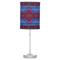 Southwestern pattern table lamp
