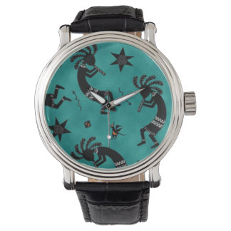 Southwestern pattern unisex Vintage style watch