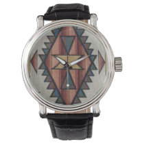 Southwestern pattern womens vintage style watch