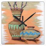 Southwestern Pottery I Wall Clocks