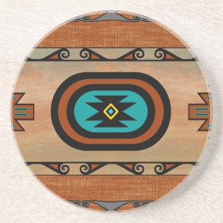 Southwestern Pueblo Design Sandstone Coaster