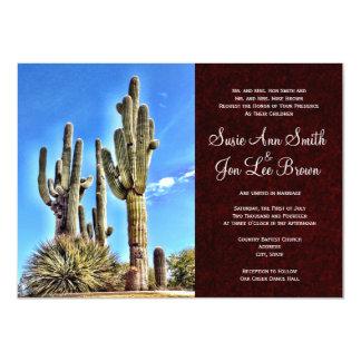 Southwestern Saguaro Cactus Wedding Invitations