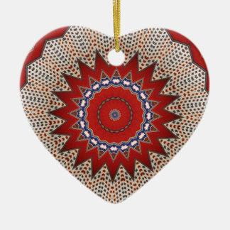 Southwestern Santa Fe Ethnic Vintage Design Ceramic Ornament