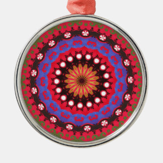 Southwestern Santa Fe Ethnic Vintage Design Metal Ornament