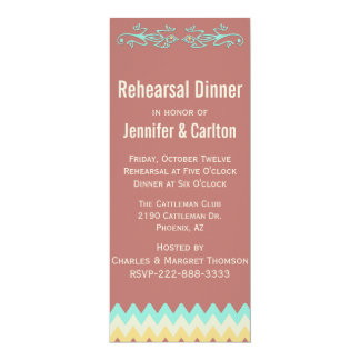 Southwestern Skinny Wedding Rehearsal Dinner Card
