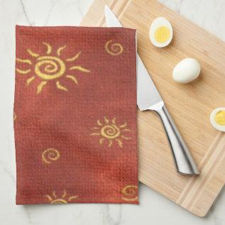 Southwestern Style kitchen towel at Zazzle