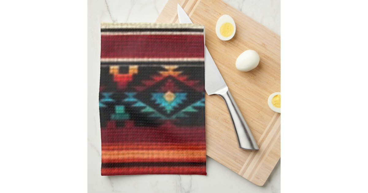 Southwestern style kitchen towel for Southwestern towel bars