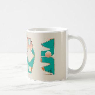Southwestern Style Mug with Bone Background