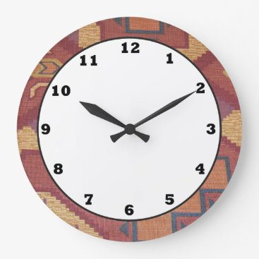 doodlesgifts Southwestern style pattern fun wall clock