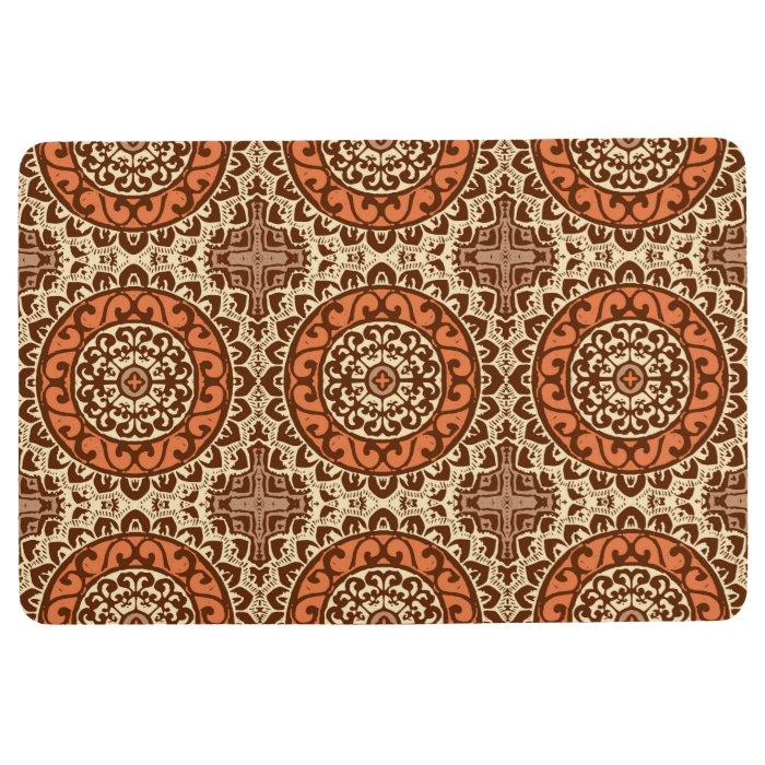 Southwestern Sun Mandala Batik Rust Amp Brown Floor Mat
