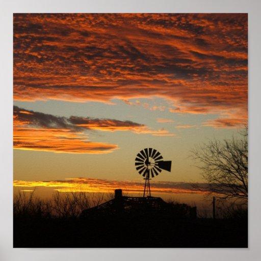 southwestern sunset posters