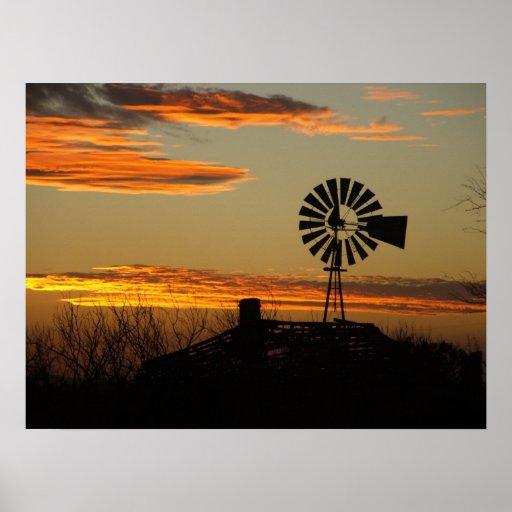 southwestern sunset poster