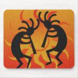 Southwestern Tribal Design Desert Sun Kokopelli Mouse Pad