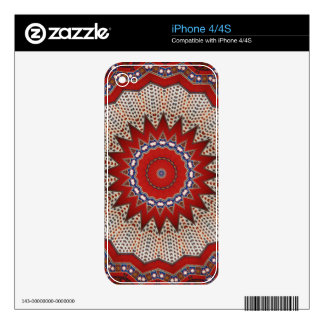 Southwestern Tribal Geometric Western Design Decals For iPhone 4S