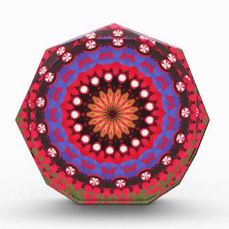 Southwestern Tribal Geometric Western  Print Acrylic Award
