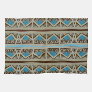 southwestern tuquoise pattern hand towel