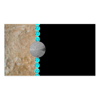 southwestern,turquoise,rustic business cards pack of standard business cards