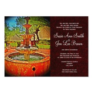 Southwestern Water Fountain Wedding Invitations