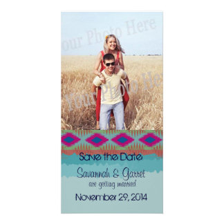 Southwestern Weave Save the Date Card