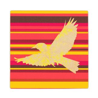 Southwestern Willow Flycatcher Wooden Coaster